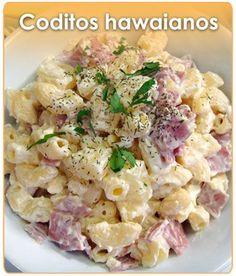 CODITOS HAWAIANOS Mexican Food Recipes, Ethnic Recipes, Dessert Recipes, Salad Recipes, Healthy Recipes, Pasta Recipes, Cooking Recipes, Pavo Picado, Arroz