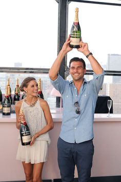 THE OLIVIA PALERMO LOOKBOOK: Olivia Palermo at The 2012 US Open Moet & Chandon Suite