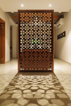 Dreamy Partition Apartment Design Ideas You Must Have 06 Living Room Partition Design, Pooja Room Door Design, Room Partition Designs, Room Interior Design, Interior Exterior, Apartment Interior, Apartment Design, Interior Decorating, Design Room