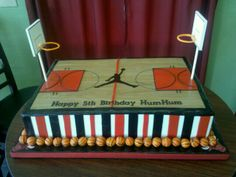 Jordan basketball cake Basketball cake ideas for Calvin's party.