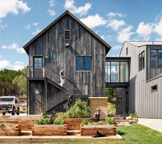 Farmhouse is a family home designed by Shiflet Group Architects in West Austin, Texas.