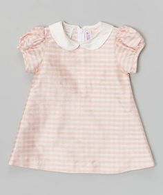 Love this Pink Gingham Silk A-Line Dress - Infant & Toddler by SIMI on #zulily! #zulilyfinds
