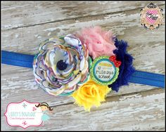 "Seller: Lainey's Bowtique ""I Rule This School"" Flower Headband Can be placed on your choice of color of elastic or your choice of clip. If no choice is specified, it will ship on blue elastic. Starting Bid: $8 Bid Increments: $1 Shipping: $3 (will combine shipping for additional $.50 per item) www.facebook.com/laineyscustombowtique Bid Here: https://www.facebook.com/BOWMAFIAGIRLS/photos/a.734450866617720.1073741943.477604452302364/734695093259964/?type=3&theater"