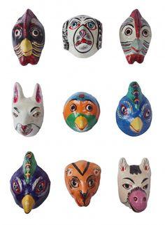 Handgemaakte Dierenmaskers uit India.