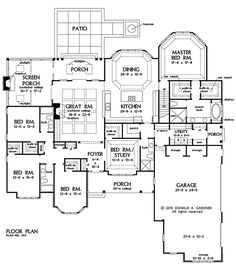 Plan SC-2700: ($960) 4 or 5 bedroom 3 bath home with a 3 car ...