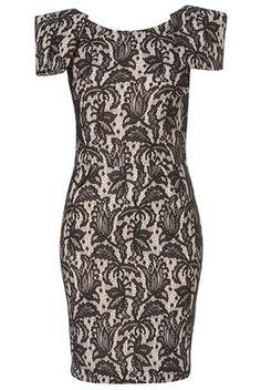 Bonded Lace Pencil Dress #topshop