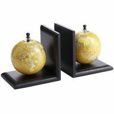 $15.96 Globes Bookend Set