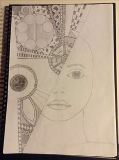 Pencil on Paper. Main Theme, A3, Markers, Mixed Media, Pencil, Paper, Sharpies, Sharpie Markers, Mixed Media Art