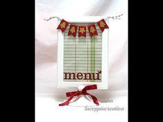 Natale Fai da te:Menù natalizio-Scrapbooking Tutorial-Christmas Table DIY-Tolsby IKEA - YouTube