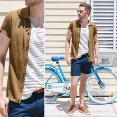 Get this look: http://lb.nu/look/7429646  More looks by Aaron Wester: http://lb.nu/themodernotter  Items in this look:  Club Monaco Tank, Sweater And Shorts, Noah Waxman Sneakers