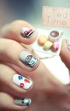 Quirky nails Zooey Deschanel may dig Get Nails, Hair And Nails, Nail Polish Art, Nail Art, Beauty Hacks Nails, Beauty Tips, Really Cute Nails, Nail Treatment, Cute Nail Designs