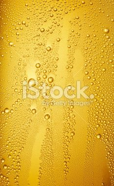 drops on beer glass Royalty Free Stock Photo