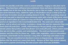 Lentils in biblical times