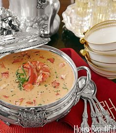 Lobster Bisque from Alex Hitz House Beautiful Magazine An elegant and luscious soup is the perfect way to celebrate the holiday season and pay tribute to the comforts of tradition.