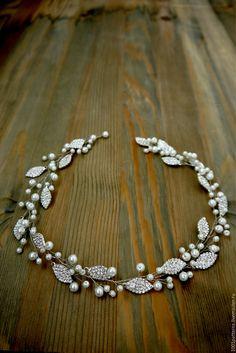 Купить Свадебное украшение для прически - гребень для прически, гребень свадебный, свадебное украшение, свадебные аксессуары