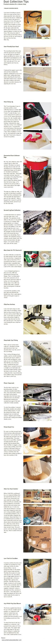 13 Dust Collection Tips  ( by Americanwoodworker.com )