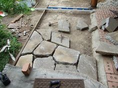 Abdallah House - Redesigning a Home: Crazy paving with urbanite