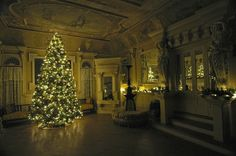 Enjoy lights, live holiday music, and Christmas trees in every room of Korner's Folly in Kernersville, NC