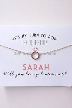 Pinterest - Andie Bridesmaid/maid of honor gift