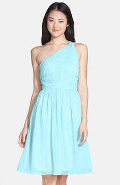 Donna Morgan 'Rhea' One-Shoulder Chiffon Dress | Nordstrom