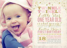 Twinkle Twinkle Little Star Birthday Invitation by partymonkey