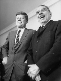 Pres. John F. Kennedy with Luis Munoz Marin, Governor of Puerto Rico
