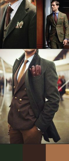 Autumn Menswear Fashion Palette http://www.ties-necktie.com/blog/