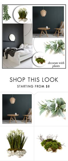 """Plants: Home made green"" by la-lunar-eclipse ❤ liked on Polyvore featuring interior, interiors, interior design, home, home decor, interior decorating, Tom Raffield, John-Richard, plants and planters"