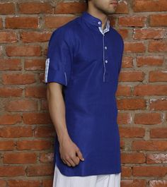 Ink #Blue #Cotton #Kurta for Men an #IndianStyle #Dressing for #Men