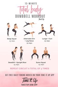 15 min Total Body Dumbbell workout!!