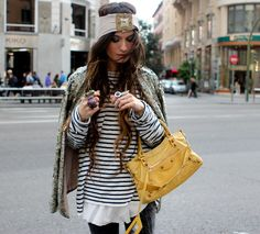 Love the stripes and the layers! #madamederosa