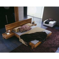 Rossetto GAP Walnut Bed Free Shipping Nationwide