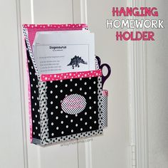 Tutorial for making a DIY Magnetic Hanging Homework Holder for school papers. Upcycled cereal box craft for organization. Diy Arts And Crafts, Crafts For Kids, Diy Crafts, Adult Crafts, Upcycled Crafts, Handmade Crafts, Stationary Box, Cardboard Box Crafts, Ocean Crafts