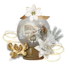 """Winter Wonderland ~ Snow Globe"" by pattysporcelainetc ❤ liked on Polyvore featuring art and vintage"
