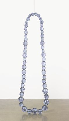 "Jean-Michel Othoniel, Grand Collier Alessandrita, Murano glass and steel cable, 101 1/4""H c. 2010, at Sotheby's 11/14/13"