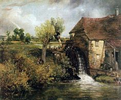 "John Constable, ""Gillingham Mill"" (1824), oil on canvas, Fitzwilliam Museum, Cambridge. #Landscape #Art"
