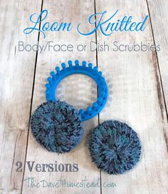 How to Loom Knit Scrubbies – 2 Different Ways How to Loom Knit S. How to Loom Knit Scrubbies – 2 Different Ways How to Loom Knit Scrubbies – 2 Diff Loom Knitting For Beginners, Round Loom Knitting, Loom Knitting Stitches, Knifty Knitter, Loom Knitting Projects, Yarn Projects, Knitting Tutorials, Free Knitting, Sock Knitting