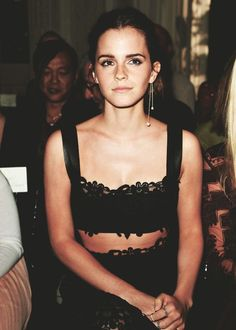 An elegant take on the crop top. Emma Watson's black lace number gets our stamp of approval.