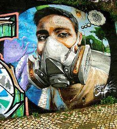 Foto: • ARTIST . VILE •  ◦ Self Portrait ◦ location: Vila Franca de Xira, Portugal #streetart