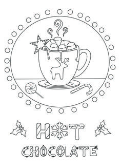 Pictures Hot Chocolate Cocoa Coloring Pages Cocoa Day Coloring