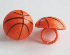 3-D Basketball Cupcake Rings