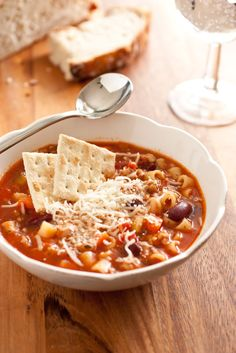 Olive Garden Pasta Fagioli Soup Copycat Recipe -  Made this and it was really good. Not quite the same as Olive Garden, but I will be making it again.  Good cold winter food ;)