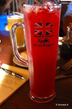 English Rose in a Souvenir Cup (Rose and Crown Pub - Epcot)