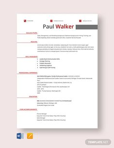 FREE Resume for Software Engineer Fresher Template - Word (DOC) | PSD | InDesign | Apple (MAC) Apple (MAC) Pages | Publisher | Illustrator | Template.net Free Professional Resume Template, Free Resume Samples, Simple Resume Template, Teacher Resume Template, Resume Design Template, Cv Template, Paul Walker, Engineering Resume Templates, Resume Software