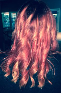 Shadow root salmon ombre salmon red hair colour