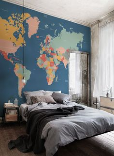 Home decorating ideas vintage wall tapestries vintage retro world navigator world map mural muralswallpaper gumiabroncs Images
