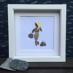 pebble art pebble decor pebble pictures by Rebeccasbeachdesigns