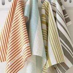 just stripes tea towels, via pigeon toe #pigeontoeceramics #pigeontoe #home #teatowels #stripes