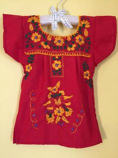 Mexican baby tunic embroidered flowers girls hippie boho traditional party wedding theme frida kahlo colourful day of the dead cinco de mayo