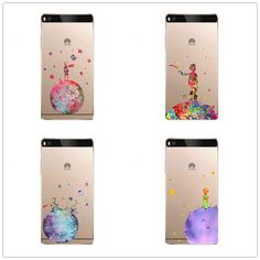 cute The Little Prince Design  transparent clear Skin Cover Case For Huawei P8 P9 Lite soft silicone TPU  Phone Cover